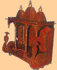 Temple With 3 Drawer 8894 Pooja Mantap Painted Furniture